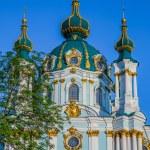 St. Andrew's church in Kyiv, Ukraine — Stock Photo #25715359