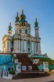 St. Andrew's church in Kyiv, Ukraine — Stok fotoğraf