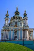 St. Andrew's church in Kyiv, Ukraine — Stockfoto