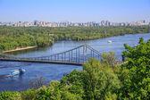 Panorama de kiev, ucrania. — Foto de Stock