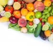 Huge group of fresh vegetables and fruits — Stock Photo #25741491