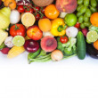 Huge group of fresh vegetables and fruits — Stock Photo #25741707