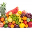 Huge group of fresh fruits isolated on a white background. — Stock Photo #25742919