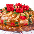 Ukrainian festive bakery Holiday Bread on white — Stock Photo #25750361