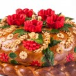 Stock Photo: Ukrainian festive bakery Holiday Bread on white