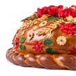 Ukrainian festive bakery Holiday Bread on white — Stock Photo