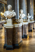 Ancient gallery with sculptures in the Versailles plance, Paris, — Stock Photo