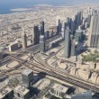 Aerial view of Downtown Dubai — Stock Video