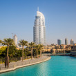 图库照片: Address Hotel in downtown Dubai areoverlooks famous da