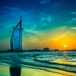Burj Al Arab is a luxury 5 stars hotel — Stock Photo #26214837