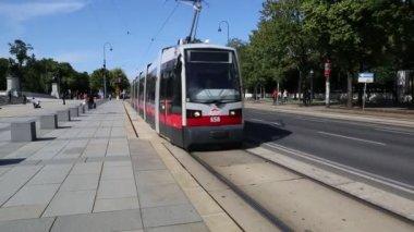 Wien-straßenbahn-netz — Stockvideo