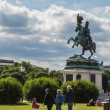 ������, ������: Horse and rider statue of archduke Karl in vienna at the Heldenp