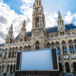 Постер, плакат: Close up Tall gothic building of Vienna city hall Austria
