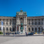 Vienna Hofburg Imperial Palace at day, - Austria — Stock Photo #29309961
