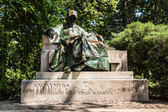 Statue of Anonymus in Budapest — Stock Photo