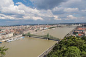 Liberty Bridge in Budapest. — Stock Photo