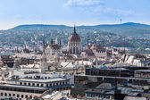 View at Budapest and belfry from the top of St. Stephen Basilica — Stock Photo