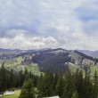 Panorama background in Carpathians. Beautiful mountains and land — Stock Photo #29525167