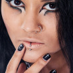 Beautiful woman. Fashion portrait. Close-up face makeup — Stock Photo