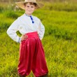 Stock Photo: Cute child in traditional Ukrainian clothes outdoor