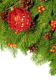 Vánoční pozadí. eva rámec — Stock fotografie