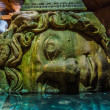 Medusa haed in The Basilica Cistern, Istanbul, Turkey. — Stock Photo