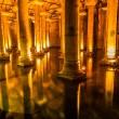 Stock Photo: Underground BasilicCistern (YerebatSarnici) in Istanbul, Turkey