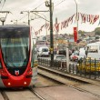 Modern tram on brdige in Istanbul — Stock Photo #31097269