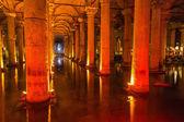 Underground Basilica Cistern (Yerebatan Sarnici) in Istanbul, Turkey — Stock Photo