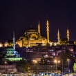 Night view on the restaurants at the end of the Galata bridge, S — Stock Photo #31261387