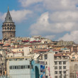 Golden Horn and the historic Galata area attracts tourists from — Stock Photo