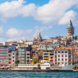 Golden Horn and the historic Galata area — Stock Photo