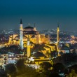 ストック写真: Evening view of HagiSophiin Istanbul, Turkey