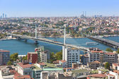 Istanbul panoramic view from Galata tower. Turkey — Stock Photo