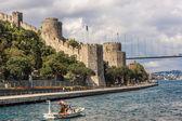 Rumeli Kalesi olarak da bilinen Kalesi Avrupa Ortaçağ dönüm noktası — Stok fotoğraf