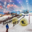 Ski Dubai is an indoor ski resort with 22,500 square meters of indoor ski area — Stock Photo #31511699