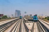 Dubai metro railway — Stockfoto