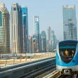 Dubai metro railway — Stock Photo #31630585