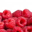 Ripe raspberries fruit background. Isolated on white — Stock Photo #31825461