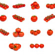 Set of tomatoes isolated — Stock Photo