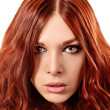 Young woman with red hair — Stock Photo