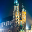 St. Mary's Church at night — Stock Photo