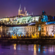 Gothic Castle with Charles Bridge — Stock Photo