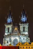 Church of Our Lady before Tyn in Prague — 图库照片