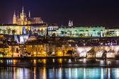 Prague gothic Castle with Charles Bridge — Stock Photo