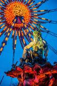 Berlin shines in a festive blaze of lights — Stock Photo
