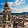 View at Budapest from the top of St Stephen Basilica — Stock Photo