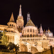 Fisherman's bastion night view — Stock Photo