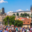 Karlov or charles bridge in Prague in summer — Stock Photo #32693151