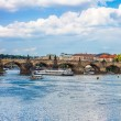 Karlov or charles bridge and river Vltava in Prague — ストック写真